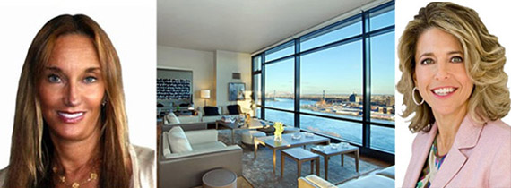 From left: Andrea Wohl Lucas, the penthouse at 170 East End Avenue and Pam Liebman
