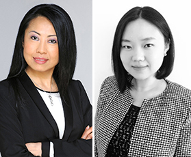 From left: Julia Jiang of Douglas Elliman and Huang Qiuzi of Park Avenue International Partners