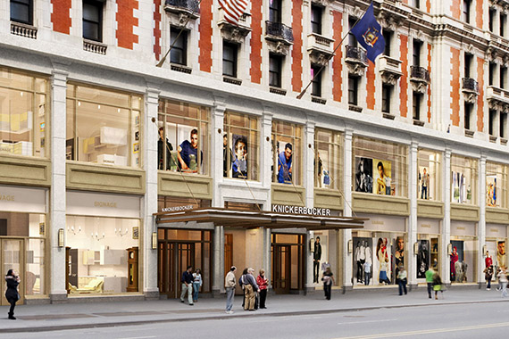 Renderings of the Knickerbocker Hotel at 6 Times Square