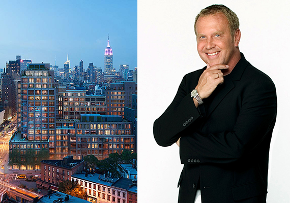 Rendering of Greenwich Lane in the West Village and Michael Kors
