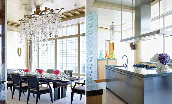 Stephen Ross' condo in the Time Warner Center (credit: Architectural Digest)