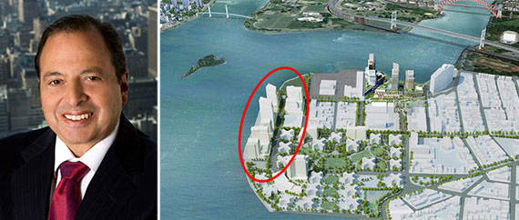 From left: Douglas Durst and a rendering of Hallets Point, Queens