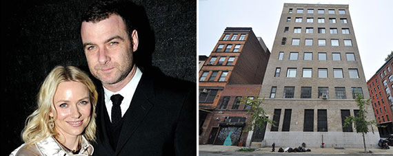 From left: Naomi Watts and Liev Schreiber and 427 Washington Street