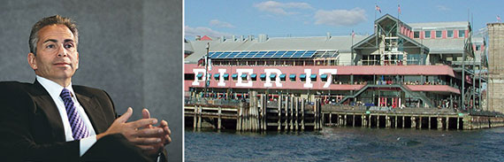 From left: David Weinreb and Pier 17 at the South Street Seaport