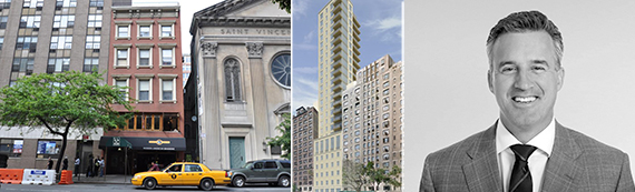 From left:  131 West 23rd Street, rendering of 19 West 96th Street and Sackman Enterprises' Carter Sackman