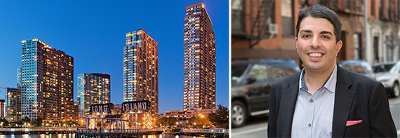 From left: Condo towers in Long Island City and Eric Benaim