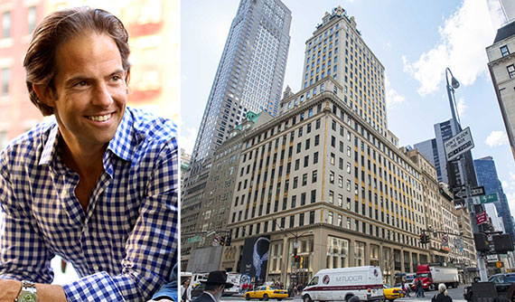 From left: Michael Shvo and the Crown Building