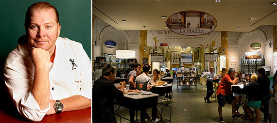 From left: Mario Batali and Eataly at 200 Fifth Avenue