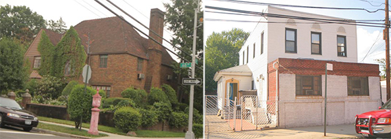 From left: 110-02 68 Drive in Forest Hills and 26-24 3 Street in Astoria