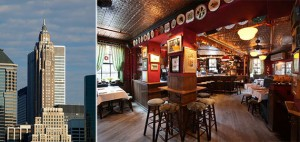From left: 70 Pine Street and the Spotted Pig