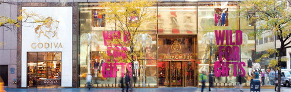 Juicy Couture parent company LCI Holdings got $52.4 million from Jeff Sutton and SL Green Realty last year to exit the lease for its former flagship store at 650 Fifth Avenue. The three-floor, 18,000-square-foot space remains unoccupied, and is now surrounded by scaffolding.