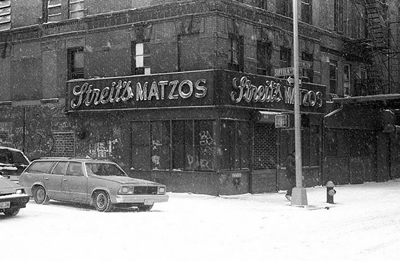 Streit's Matzo Factory on Rivington Street on the Lower East Side in the early 90s