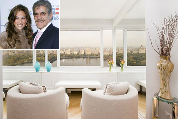 45 East 89th Street on the Upper East Side (inset: Erica and Geraldo Rivera)