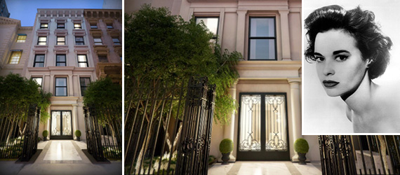 39 East 72nd Street on the Upper East Side (inset: Gloria Vanderbilt)