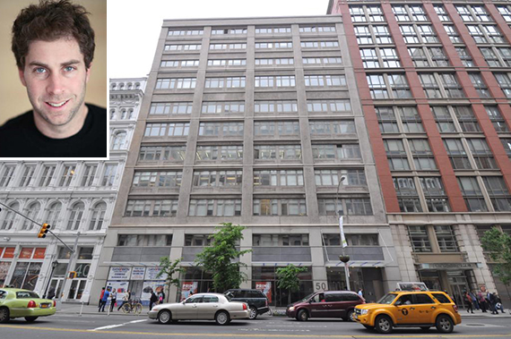 50 West 23rd Street in Flatiron (inset: Jed Walentas, principal of Two Trees Management)
