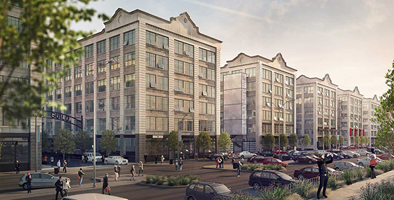 Rendering of Industry City in Sunset Park