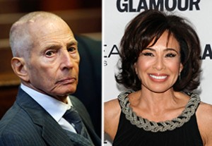 From left: Robert Durst and Jeanine Pirro