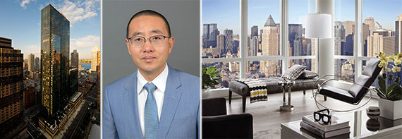 From left: 460 West 42nd Street, Kuafu's Shang Dai and a rendering of a unit at 1 MiMa Tower