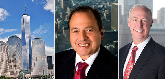 From left: One World Trade Center, Douglas Durst and Moody's CEO Raymond McDaniel
