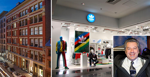 From left: 115 Spring Street, an Adidas store and Marc Holliday