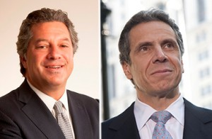 From left: Marc Holliday and Andrew Cuomo
