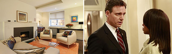 """From left: 32 West 74th Street and Tony Goldwyn on """"Scandal"""""""