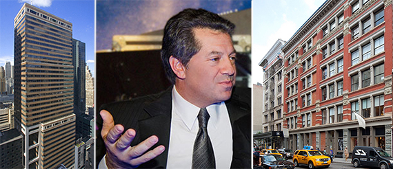 From left: 120 West 45th Street, SL Green's Marc Holliday and 131-137 Spring Street