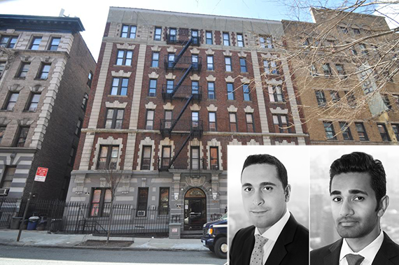 206 West 95th Street and (from left) Elan Hakimian and Sunder Jambunathan