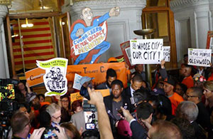 A recent rent rally in Albany