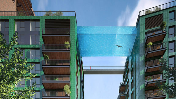 "A rendering of London's forthcoming ""sky pool"""