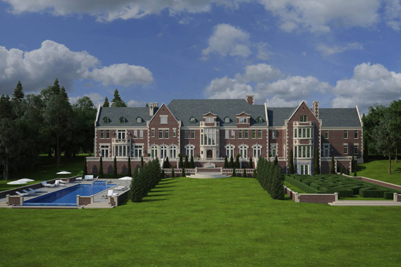 Rendering of the 98-acre property in Mount Kisco, N.Y. (credit: Twin Oaks)