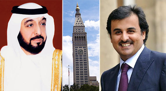 From Left: Emir of Qatar Sheikh Tamim bin Hamad Al Thani, 5 Madison Avenue and Khalifa bin Zayed Al Nahyan, emir of Abu Dhabi