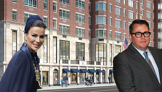 Sheikha Mozah bint Nasser Al Missned of Qatar, Richard Hodos and a rendering of 680 Madison Avenue