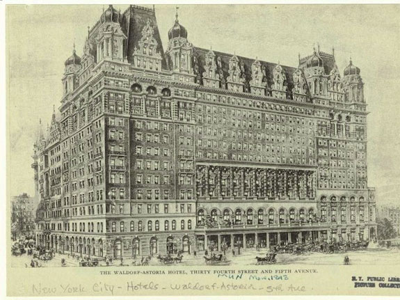 the-original-waldorf-astoria-hotel-opened-in-the-1890s-combining-the-astor-and-waldorf-hotels-it-was-destroyed-in-1929-and-the-hotel-moved-to-its-new-location-in-the-city-where-it-still-stands-today