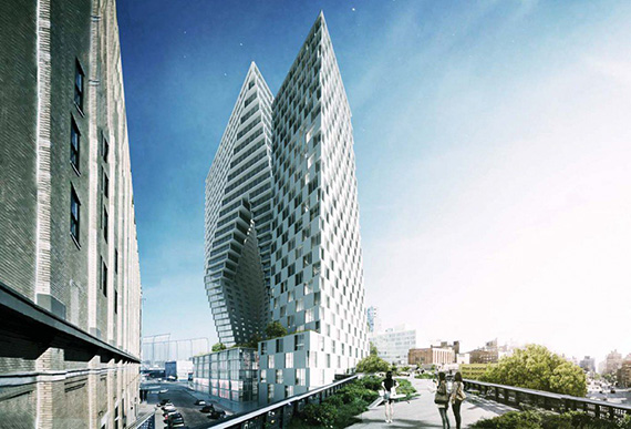 A rendering of 76 Eleventh Avenue (credit: BIG)