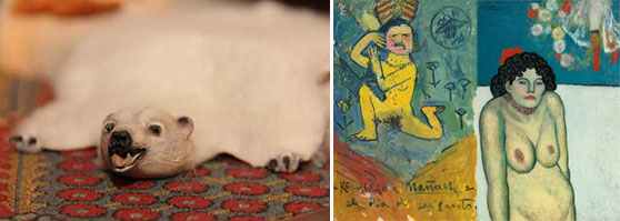 """A bear rug in the world's most expensive doll house and """"La Gommeuse"""" by Picasso"""