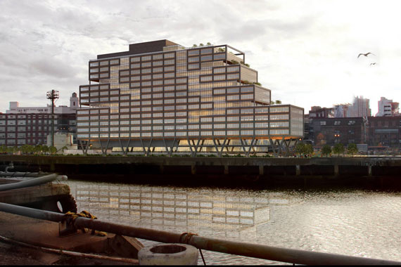 A rendering of Dock 72 by S9 Architecture