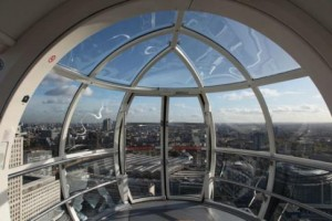 A view from inside the London Eye