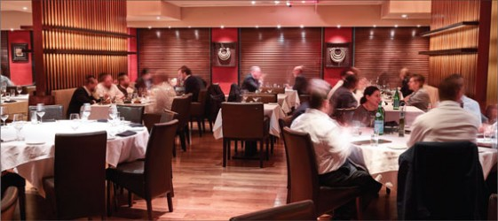 The kitchen at Reserve Cut, a kosher steakhouse in the Financial District