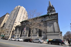 The former First Church of Christ, Scientist at 361 Central Park West
