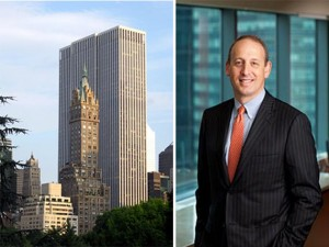 Boston Propertiesp resident Doug Linde alongside 767 fifth avenue