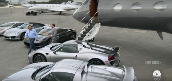 """Gil Dezer and his cars on """"Secret Lives of the Super Rich"""""""