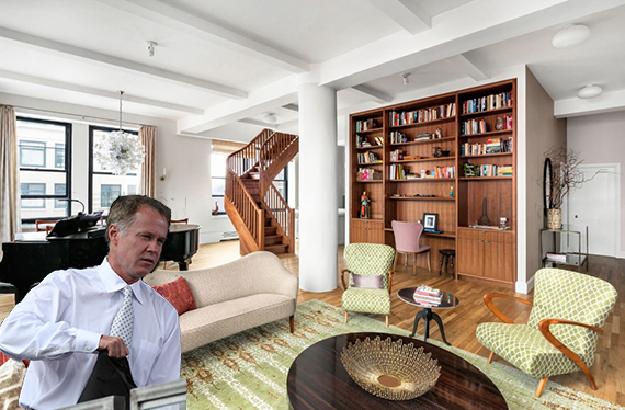 Inside 250 Mercer Street in Greenwich Village (inset: Patrick McEnroe)