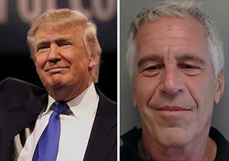 From left: Donald Trump and Jeffrey Epstein