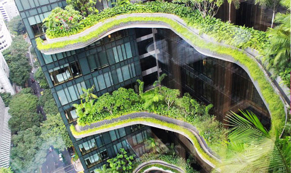 Parkroyal on Pickering tower in Singapore