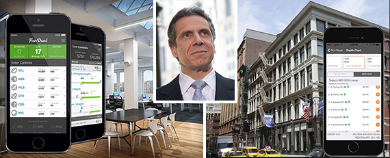 From left: 300 Park Avenue South and 400 Lafayette Street (inset: Andrew Cuomo)