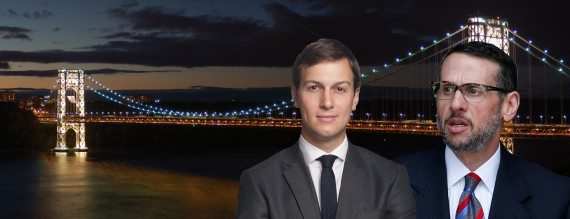 The George Washington Bridge, Jared Kushner and David Wildstein (credit: Getty)