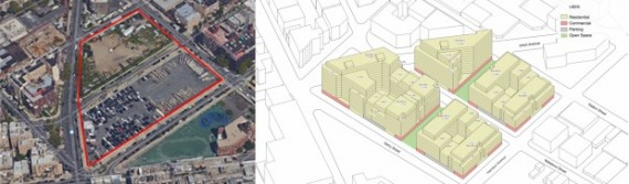 249 and 334 Wallabout Street in Bedford-Stuyvesant and proposed Broadway Triangle rezoning (credit: DCP)