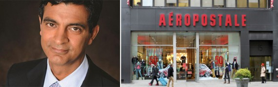 Sandeep Mathrani and an Aéropostale store