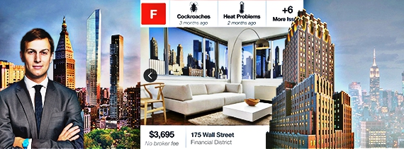 From left: Jared Kushner, 45 East 22nd Street, and 100 Barclay